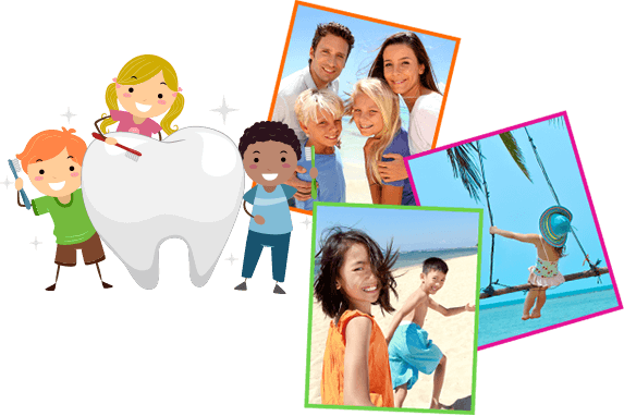 kids tooth collage